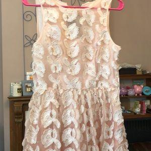 Blush bridesmaids dress